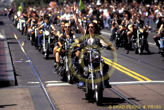 Picture: Dykes on Bikes Begin Gay Pride Parade, San Francisco